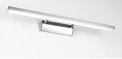 Lampara De Espejo Baño Aplique Espejo Baño 10W Aluminio Lámpara Armario LED 60CM Luz De Pared 3000K&6000K Blanca Lámpara Impermeable De Espejo Gabinete Pared,Warm White