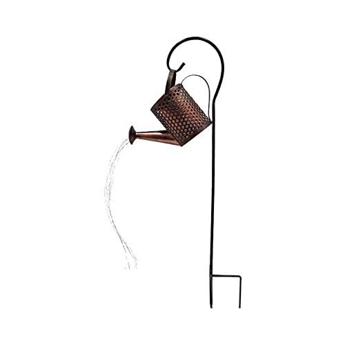 Lámparas solares Retro - cocinadas lámparas de Ducha de Hierro para la decoración del césped, lámparas de Grado Impermeable, Luces de Paisaje