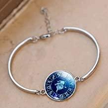 Damen Fashion Silber Kette Armband 12 Sternzeichen Fische Stier Zwillinge Löwe Jungfrau Waage Steinbock Sternzeichen Schmuck Armreif