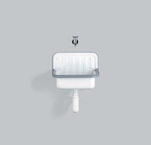 Hansgrohe AlApe Ausgussbecken Stahlform 412 Weiß, 1000000000