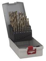 Bosch Professional 2608587018 ProBox HSS-Co Set Punte Metallo, 1 - 13 mm Grigio, 25 Pezzi
