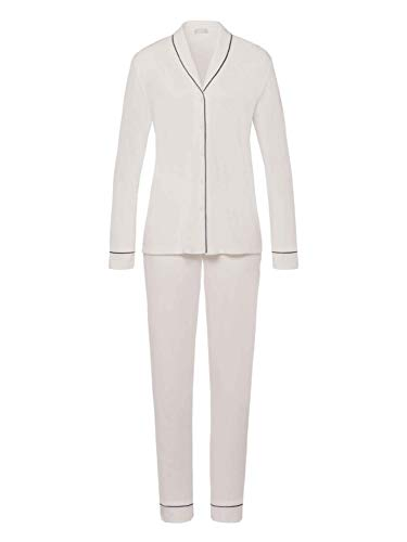 Hanro Natural Comfort Pyjama lang, durchgeknöpft Damen