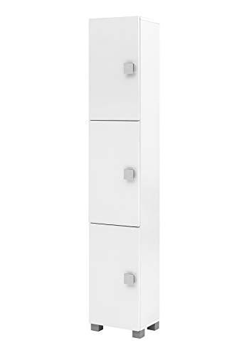 Schildmeyer Edia Hochschrank 140032, weiß glanz, 30,3 / 23,3 / 167,6 cm