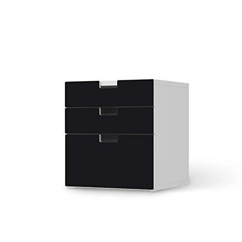 creatisto Möbeltattoo für Kinder - passend für IKEA Stuva Kommode - 3 Schubladen (Kombination 1) I Tolle Möbelaufkleber für Kinder-Zimmer Deko I Design: Schwarz