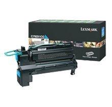 LEXMARK X792X1CG - Cartucho de tóner láser (extra alto rendimiento), color cian