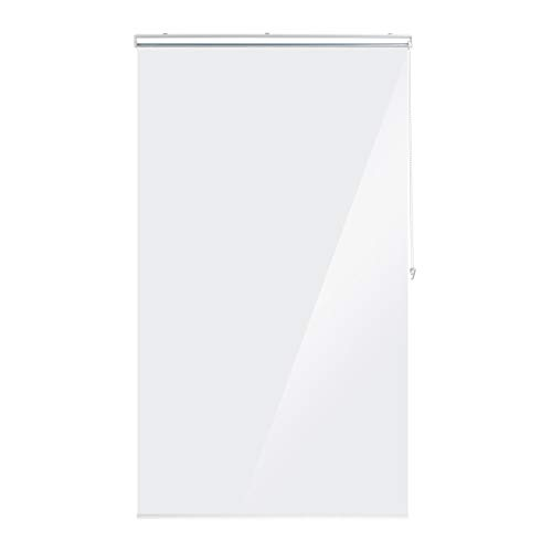 Relaxdays Duschrollo, 120x240 cm, Seilzugrollo für Dusche & Badewanne, wasserabweisend, Decke Spritzschutz, durchsichtig