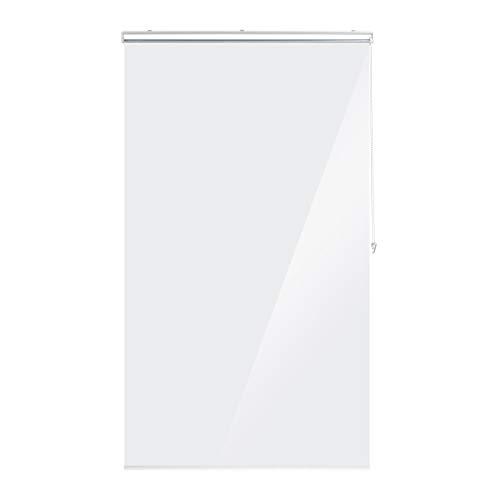 Relaxdays Estor de Ducha Enrollable 120 x 240 cm, para Ducha y bañera, Impermeable, con protección contra Salpicaduras, Transparente