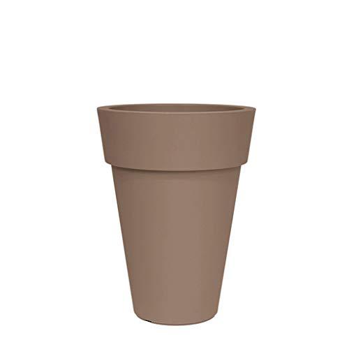 Jren-zk SZQ-Bloempot Ronde Hoog Cilinder Bloembak, Grondgang Decoratieve Ornamenten Effen Kleur Kunststof Bloempot Plantenpot