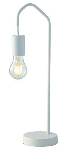 Luce Design Tischleuchte Habitat für E27-Leuchmittel, Design, Elegante, minimalistische Tischlampe, Metall, Weiß