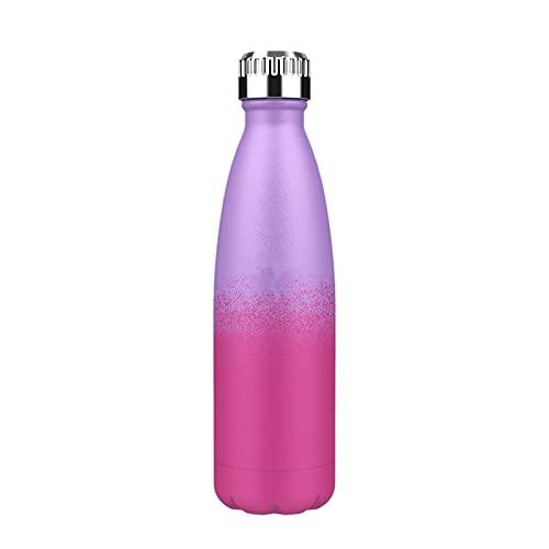 JSSEVN Taza de viaje aislada de acero inoxidable para niños y niños, botella de agua de 750 ml, frasco a prueba de fugas, doble pared para trabajo escolar