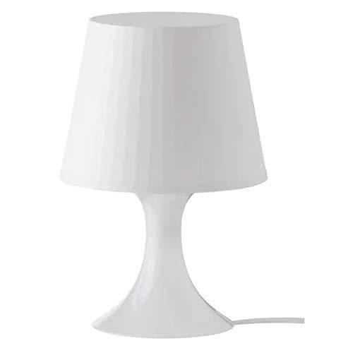 Ikea IKE-200.469.88, White, LAMPAN Tischleuchte, weiß, Plastik, 19 x 19 x 15 cm