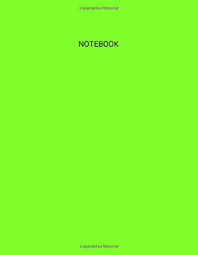 Notebook: Laser Green - College Ruled Composition Notebook - 110 Pages - 11x8.5 Large - Simple - Minimal - Elegant - Pure