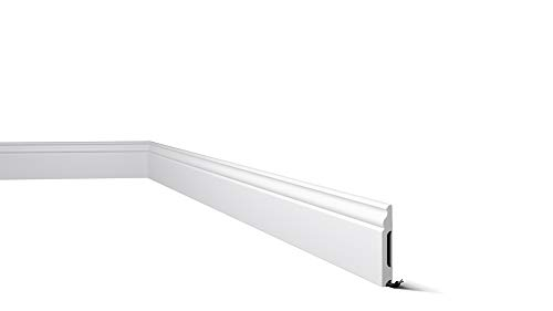 Zócalos para paredes Wallstyl FB2 Nmc / Rodapiés / Zócalo blanco / Molduras poliestireno