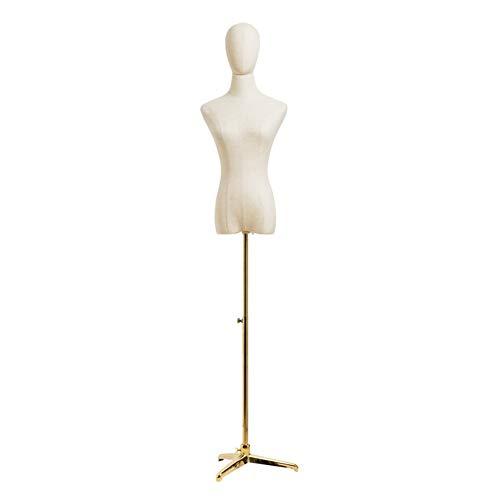KKCF maniquíes torso, altura ajustable, base de hierro forjado, exhibición de joyas de ropa, soporte estable para chupete para tienda de ropa (color: A, tamaño: pequeño)