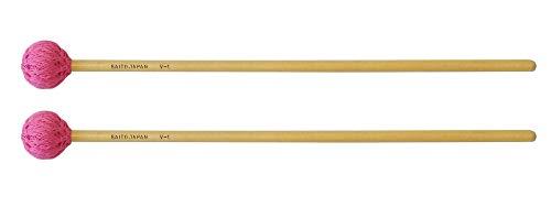 サイトウ Saito ビブラフォン用マレット 永曽重光モデル 【V-1】 コード巻ヘッド 硬度:H(ハード) 長さ:37cm