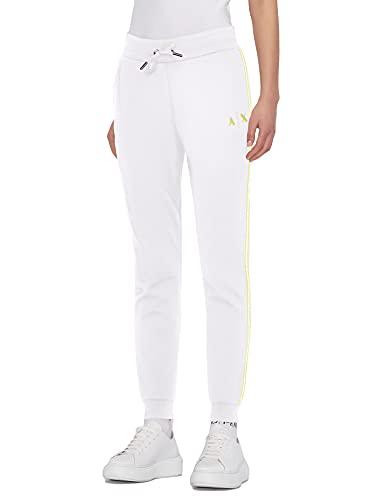 Armani Exchange Sporty Sweatpants Pantalón Deporte, Blanco, XS para Mujer