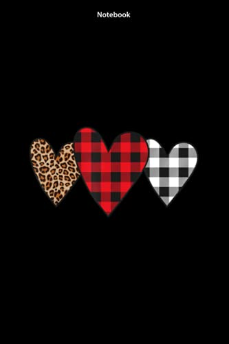 Notebook Cute Buffalo Lumberjack Plaid Leopard Valentines Day Heart: Notebook to Write In for Journals