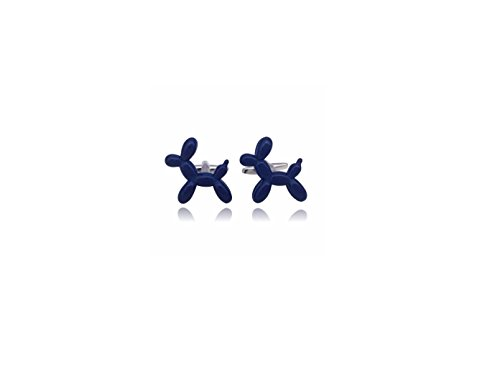 Fancy Cuff Links nuevo 3d globo azul perro, azul, Talla única