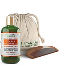 BOTANICAL HAIR GROWTH LAB - Hair Loss Shampoo - Ginger Saw Palmetto - Scalp Energizing / Extra Strength - For Hair Loss Alopecia Prevention Postpartum DHT Blocker - Gift Set - 10.2 Ounce