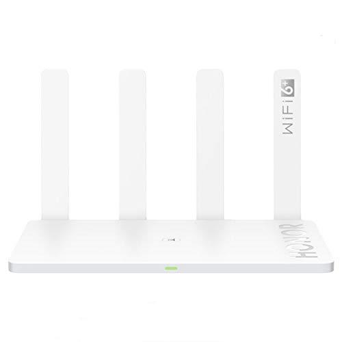 HONOR Router 3, WiFi 6+ Enrutador Inalámbrico Doble Banda 3000Mbps (5GHz + 2.4 GHz), 4X Puertos Gigabit LAN/WAN, Pueden Conectar 128 Dispositivos, Modo de Control Parental para Casa y Laborable