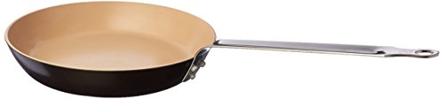 Matfer Bourgeat Classic Ceramic Crepe Pan, 11-Inch, Brown/Beige