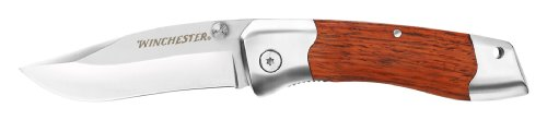 Winchester Folding Knife, 3-Inch, Wood Handle, Fine Edge [31-000306]