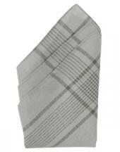 12 zakdoeken van de Duitse shcen Bundeswehr van katoen grijs geruit 50 x50 cm