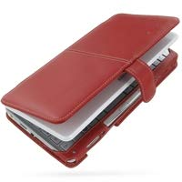 PDair Handarbeit Leder Hülle - Leather Book Case for Sony VAIO Type VGN-P Series (Red)