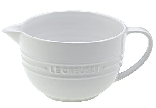 Le Creuset Stoneware Batter Bowl, 2 qt., White