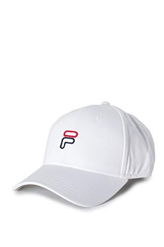 Fila Unisex 6 Panel Strap Back UP Baseball Cap, Weiß (Bright White M67), One Size