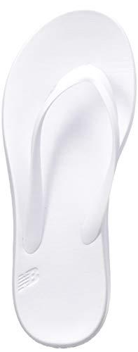 New Balance Men's 24 V1 Flip Flop, White/White, 7 -  SUT24W1-152-7 B US1018