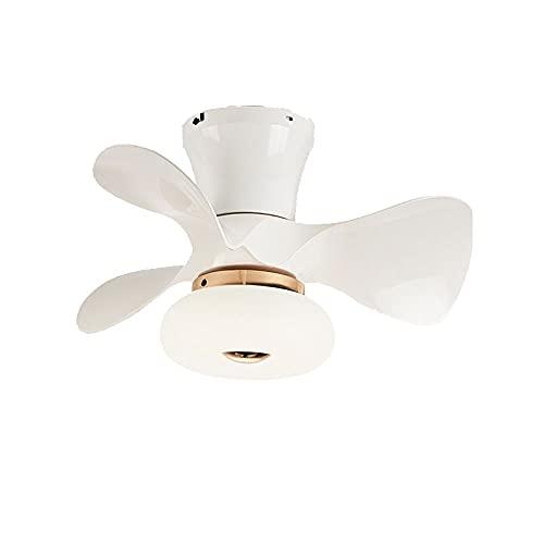 MAVL Luz de Techo LED con Luces de Ventilador 6 Niveles Velocidades del Viento, atenuación Continua, Moderno para salón Comedor, Dormitorio, Oficina (Color : Blanco)