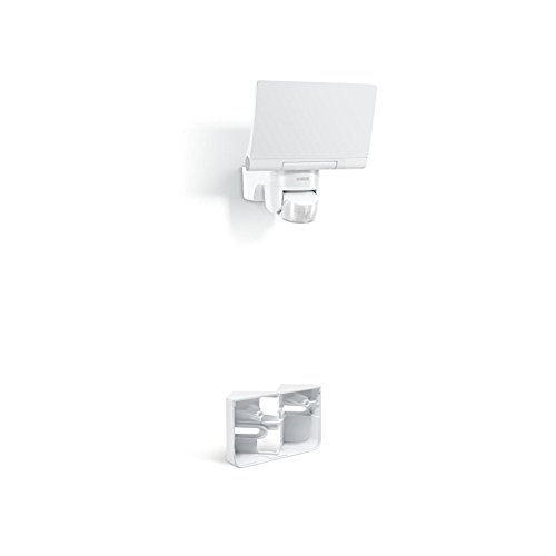Steinel Eckwand-Set mit LED-Strahler XLED Home 2 weiß und passendem Eckwandhalter, voll schwenkbares Flutlicht, 14 W