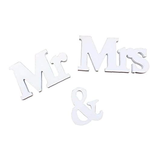 Sr. Sra firmar cartas 3D letras de madera para la decoración de...