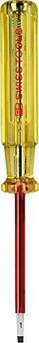 PB Swiss Tools SCHLITZ Elektriker Spannungsprüfer PB 175, 110-250 Volt, DIN VDE 0680-6, 100% Swiss Made, Lebenslange Garantie, 3,5mm x 75mm