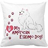 Hbw4ewg I Love My American Eskimo Dog Couvre-lit R131ec6bbab7748 C68240 C61d32eb5542 I5fqz 8byvr Taie d'oreiller 45,7 x 45,7 cm