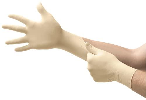 Ansell Microflex 63-864 Einweg-Latexhandschuhe, Design mit verstärkter Fingerdicke, Wasserdichte und Bequeme Beschichtung, Professionelle Arbeitshandschuhe, Puderfrei, Größe XL (100 Handschuhe)