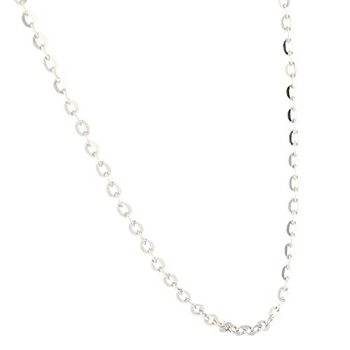 Jollys Jewellers Collar Belcher de plata de ley de 45 cm (1 mm de ancho) para mujer
