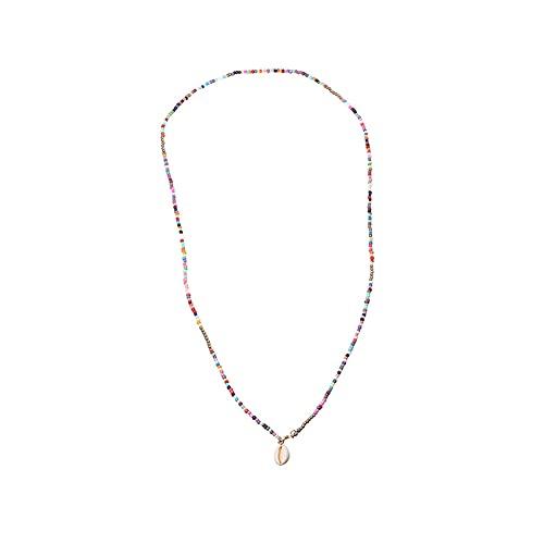 Collar Bohemio de Cuentas, Cuentas de Colores Collar, De Hawaii Hecha A Mano De Boho Ajustable Collar, Cristal De Perlas Florales Joyería, para Mujeres Y Niñas