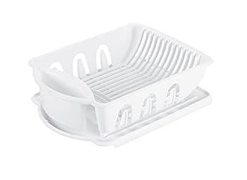 Sterilite 06218006 Sink Dish Rack Drainer White