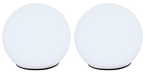 Lunartec Leuchtkugeln: 2er-Set Solar-Glas-Leuchtkugel mit LEDs & Dämmerungsautomatik, Ø 9 cm (Gartenkugel)