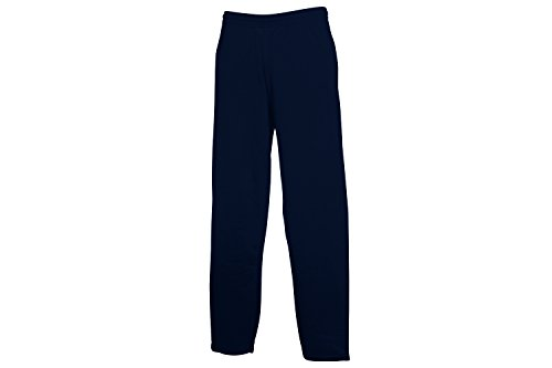 Fruit of the Loom Open Hem Jog Pants, Pantaloni della Tuta Uomo, Blau (Deep Navy AZ), 48 W