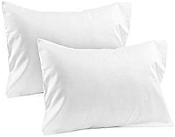 Travel Pillow Case 12x16 Set Of 2 White Solid Envelope Style 500 Thread Count Toddler Pillowcase 100 Egyptian Cotton Travel Pillow Cover