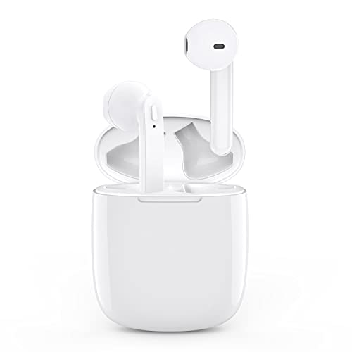 Wireless Earbuds Bluetooth 5.0 Headphones with 30H Cycle Playtime Built-in Mic IPX6 Waterproof Headsets with Charging Case for Air Buds in-Ear Ear Buds Stereo Earphones for iPhone/Android
