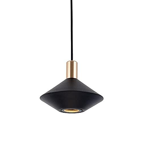 Lámpara colgante de techo creativa, cuerpo de lámpara de hierro con pintura a la parrilla + lámparas colgantes de pantalla de aluminio, enchufe GU10, luces descendentes minimalistas modernas para come