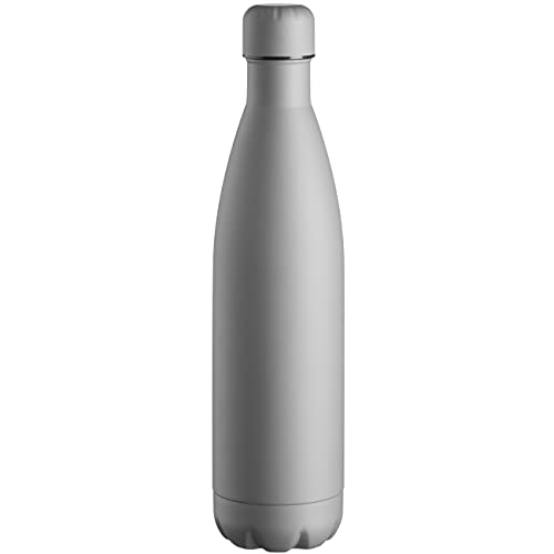 Mäser Borraccia termica per adulti unisex, 750 ml, isolata per bevande calde e fredde, a prova di perdite, colore grigio opaco