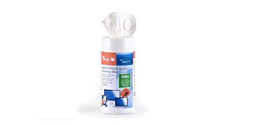Peach PA101 feuchte Reinigungstücher | 100 Stück |Bildschirmreinigung | ohne Streifen | für Bildschirme, Laptops etc.