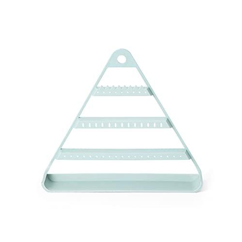 Soporte de exhibición de la joyería Pendientes de triángulo creativo Pantalla de joyería Soporte Pendientes Colgante Pendientes Almacenamiento Pequeño Joyería Caja de almacenamiento Organizadores de j