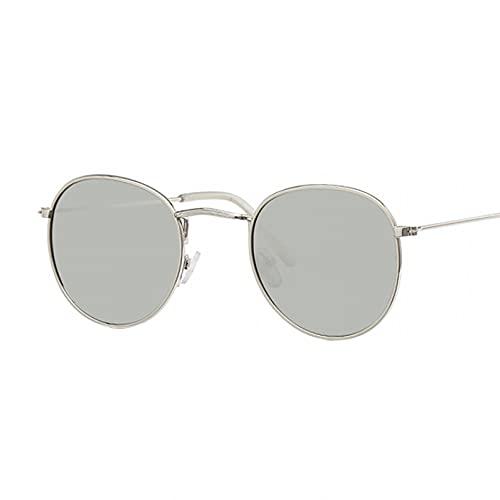 Tanxianlu Lindas Gafas de Sol ovaladas Retro para Mujer, de Marca Famosa, pequeñas, Doradas, Negras, Vintage, Gafas de Sol Retro para Mujer, Gafas Plateadas, Oculos,3