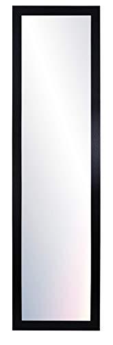 Chely Intermarket, Espejo de Pared Cuerpo Entero 35x140cm (Marco Exterior 42x147cm) MOD-128 (Negro) Forma Rectangular   Decoración de salón, recibidor, Dormitorio   Acabado Elegante (128-35x140-6,15)